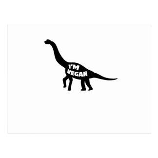 i'm vegan  Herbivore Dinosaur Vegetarian Gift Postcard