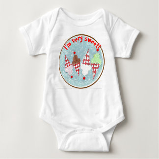 """I'm very sweet!"" ice Cream Cone Baby Bodysuit"