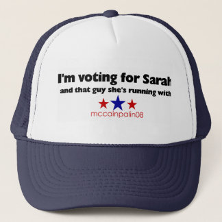 I'm Voting for Sarah Trucker Hat