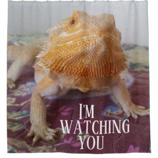 I'M WATCHING YOU Funny Bearded Dragon Photo Design
