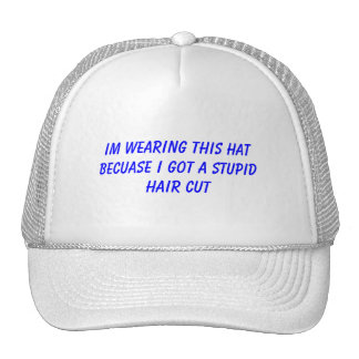 Im wearing this hat becuase i got a stupid haircut