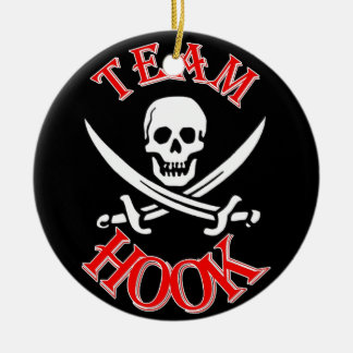 I'm with Captain Hook Ceramic Ornament