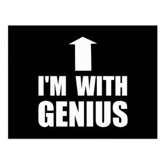 I'm With Genius Postcard