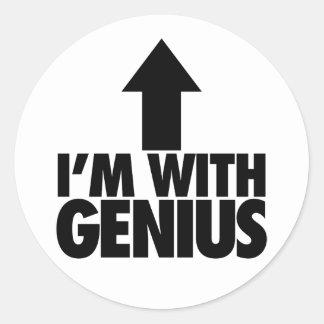 Im With Genius Stickers