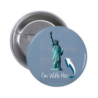 I'm With Her! 2 Inch Round Button