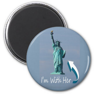 I'm With Her! 2 Inch Round Magnet