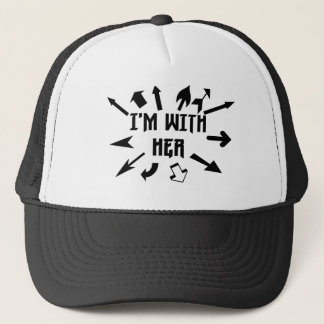 I'm With Her arrows Trucker Hat