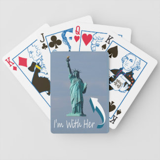I'm With Her! Bicycle Playing Cards