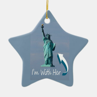 I'm With Her! Ceramic Star Ornament