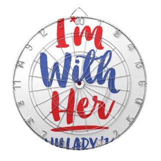 Im with her - Hillary 2016 Dartboard