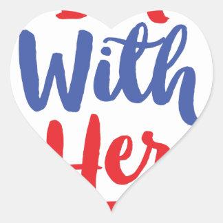 Im with her - Hillary 2016 Heart Sticker