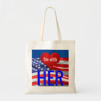 I'm with Her Hillary Clinton President Elections Budget Tote Bag