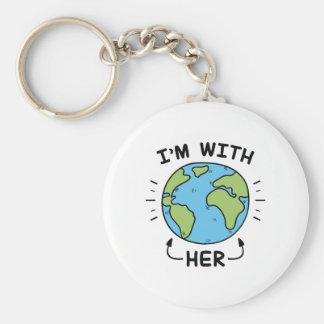 I'm With Her Keychain