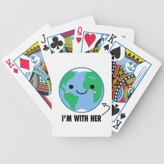 I'm With Her - Planet Earth Day Bicycle Playing Cards