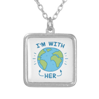 I'm With Her Silver Plated Necklace