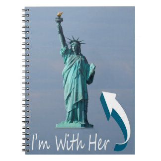 I'm With Her! Spiral Notebook