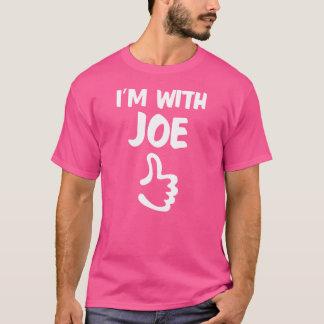 I'm With Joe shirt - Pink