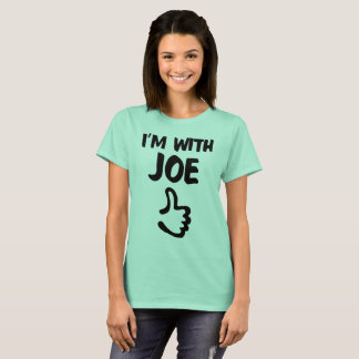 I'm With Joe Woman's shirt - Clear Mint