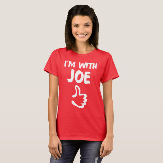 I'm With Joe Woman's shirt - Deep Red