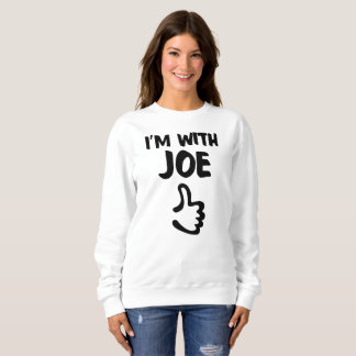 I'm with Joe Women's Basic Sweatshirt - White
