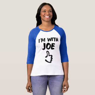 I'm With Joe Women's Raglan tshirt - Blue