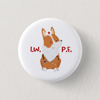 I'm With Pickles Foundation - 1¼ Inch Corgi Button