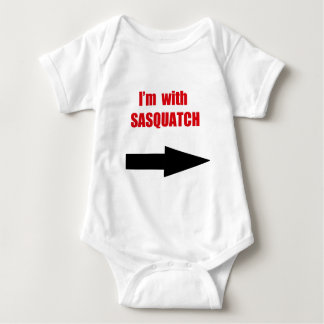 I'm with sasquatch baby bodysuit