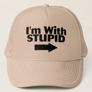 Im With Stupid Trucker Hat