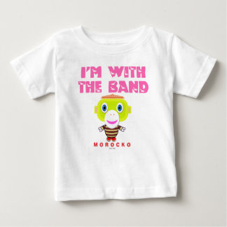 I'm With The Band-Cute Monkey-Morocko Baby T-Shirt