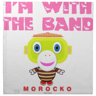 I'm With The Band-Cute Monkey-Morocko Napkin