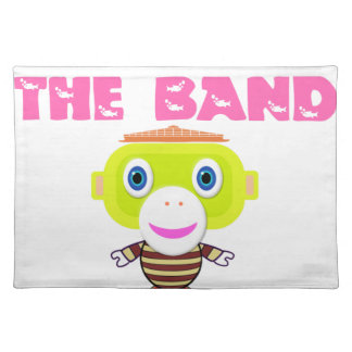 I'm With The Band-Cute Monkey-Morocko Placemat