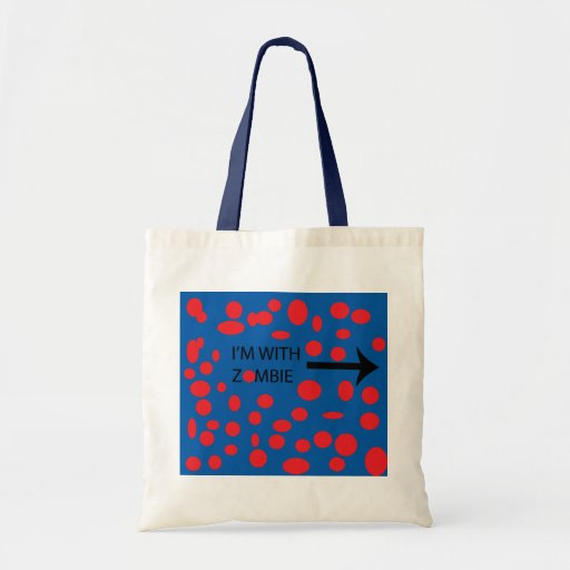 I'm with zombie tote bag