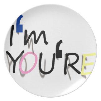 i'm you're design dinner plates