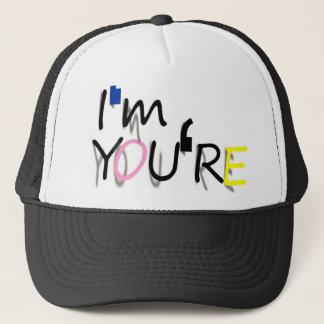 i'm you're design trucker hat