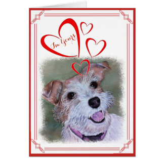 I'M YOURS VALENTINE SWEET JACK RUSSELL CARD