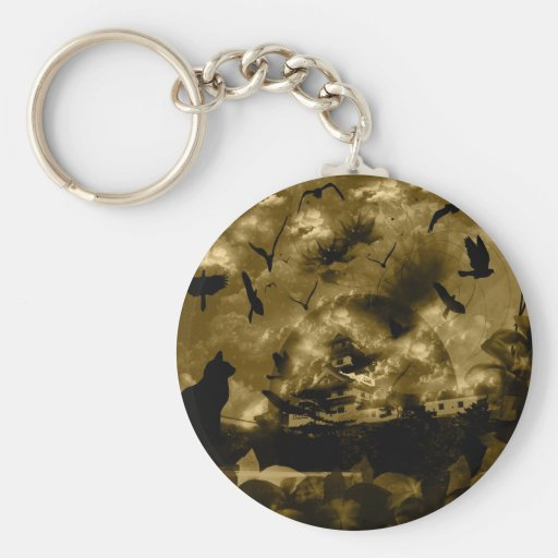 Imabari castle and flower and bird keychains