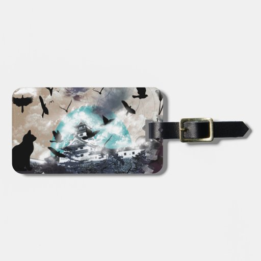Imabari castle and flower and bird tags for bags