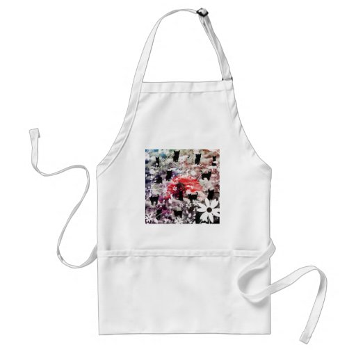 Imabari castle and flower and butterfly apron