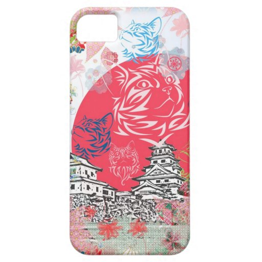 Imabari castle and flower and cat iPhone 5 covers
