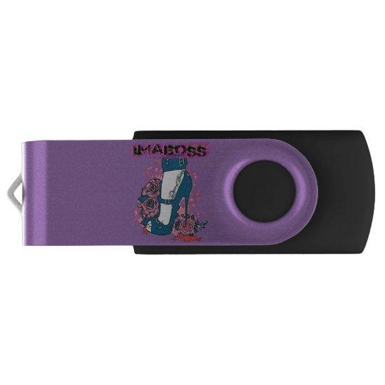ImaBoss Silver, 16 GB, Black Swivel USB 3.0 Flash Drive