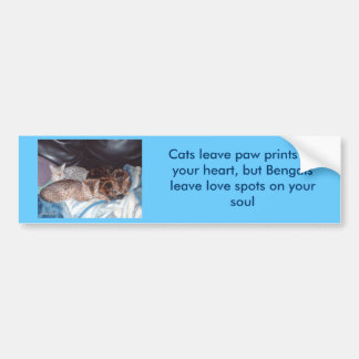 imag0310, Cats leave paw prints on your heart, ... Bumper Sticker