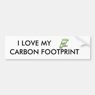 image007, I LOVE MY, CARBON FOOTPRINT Bumper Sticker