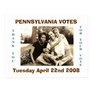 image0-6, PENNSYLVANIA VOTES, Tuesday April 22n... Postcard