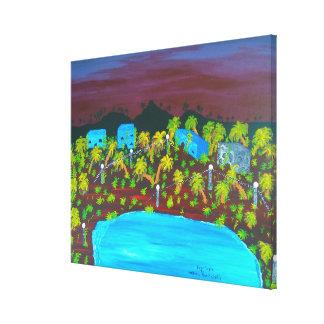 Image 600-dpi 30'x24'Picture Deep Purple Canvas Print