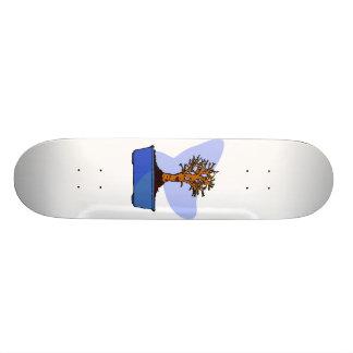 Image bleue de graphique de pot équilibrée par bon planche à roulette