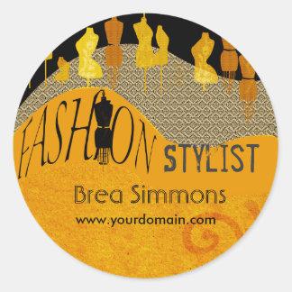 Image Consultant Fashion Stylist Classic Round Sticker
