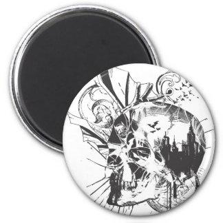 Image de crâne de Batman Magnet Rond 8 Cm