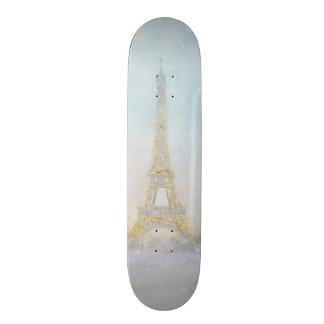 Image de l'aquarelle   d'Eiffel Towe Skateboards Personnalisés