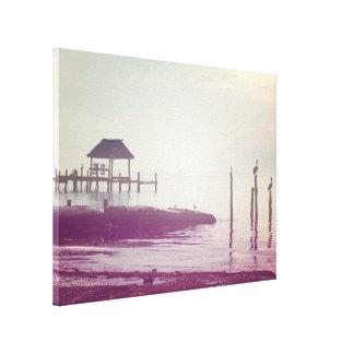 Image de paysage, plage toile tendue sur châssis