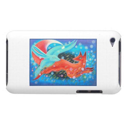 Image de renard d'animaux, d'A et d'un lièvre Coque iPod Touch